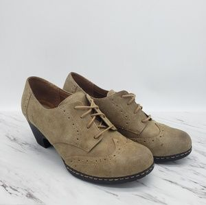 Euro Soft Lace Up Wing Top Oxford Shoes